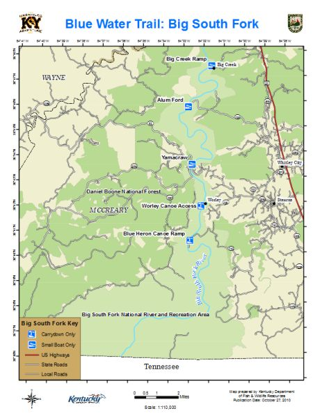 Fly Fishing Tennessee Map.Kentucky Department Of Fish Wildlife Big South Fork