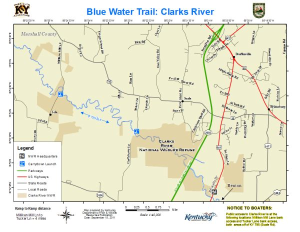 Clarks River National Wildlife Refuge Map