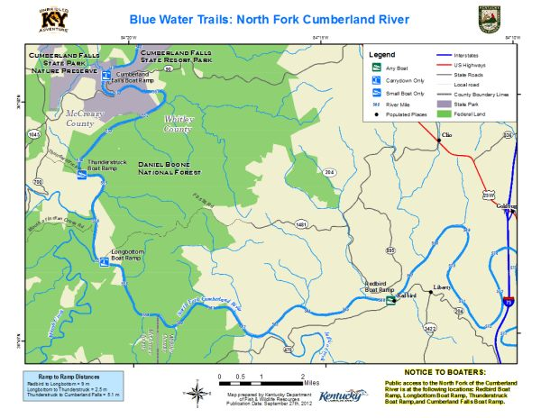 North Fork Cumberland River Map