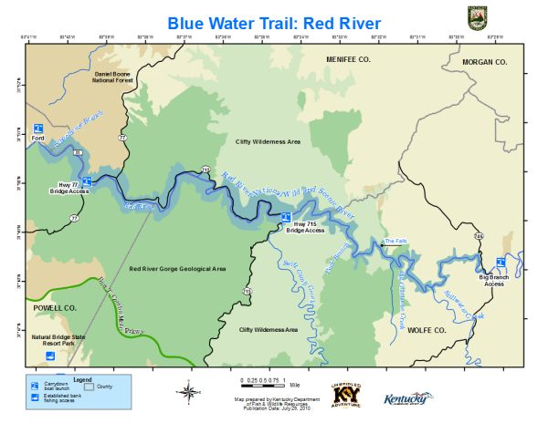 Map Of Red River Kentucky Department of Fish & Wildlife Red River Map Of Red River