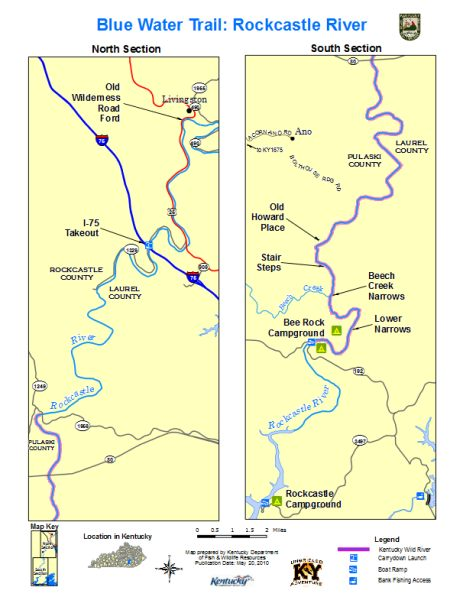 Rockcastle River Map