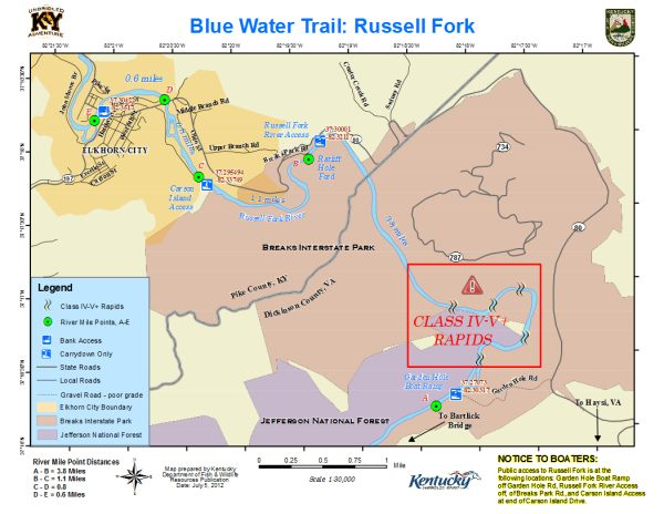Russell Fork Map