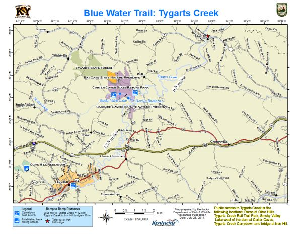 Tygarts Creek Map