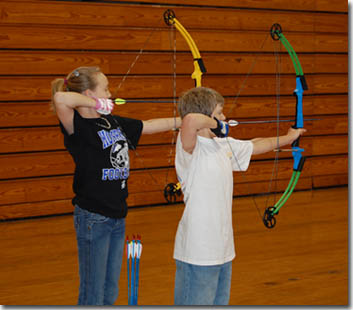 National Archery in the Schools Program Two Archers