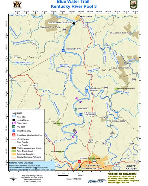 Kentucky River, Pool 3 Map