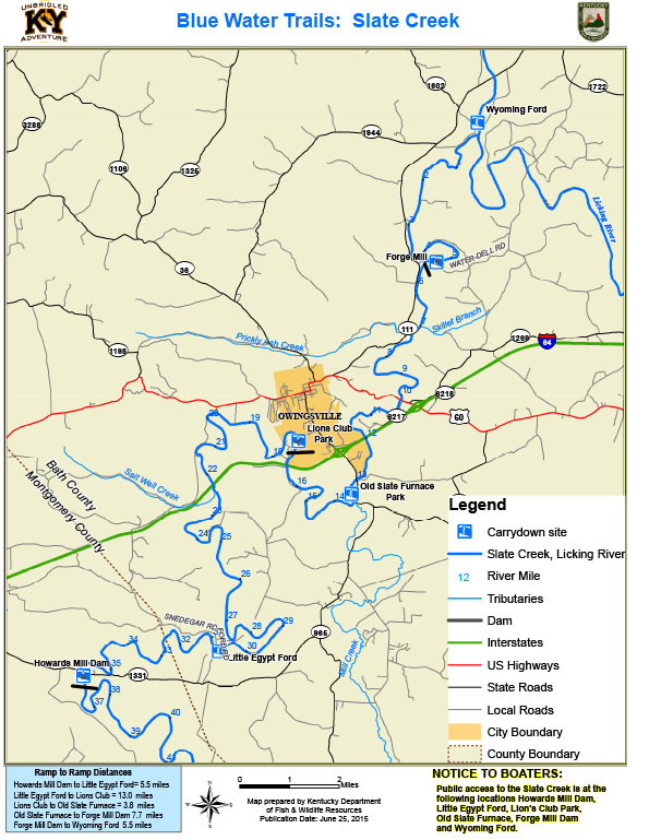 Kentucky department of fish wildlife slate creek for Ky dept fish and wildlife