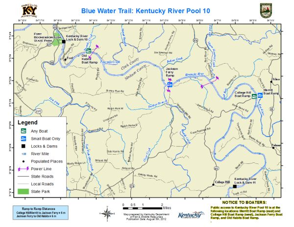 Kentucky River, Pool 10 Map