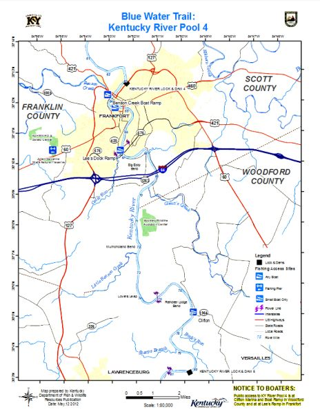 Kentucky River, Pool 4 Map