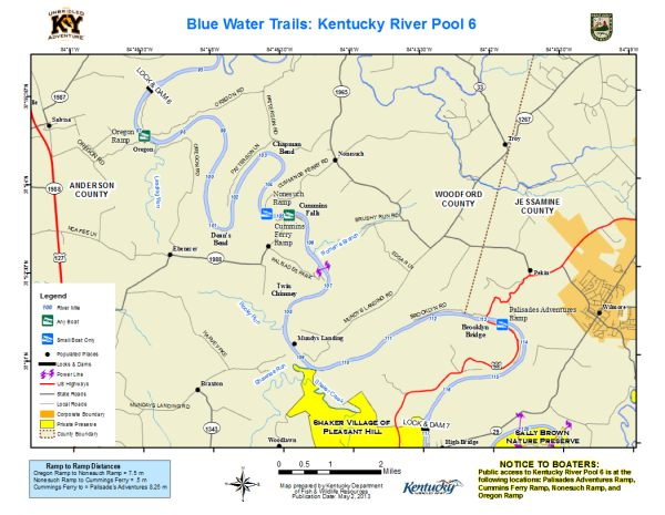 Kentucky River, Pool 6 Map