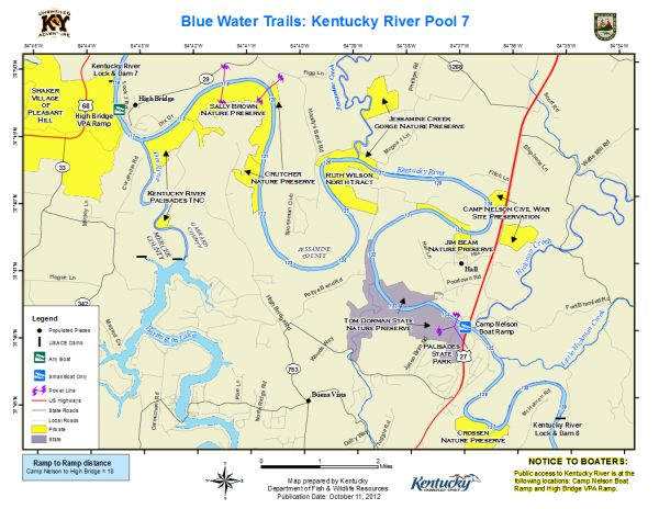 Kentucky River, Pool 7 Map