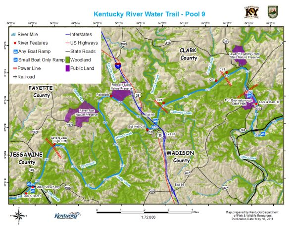Kentucky River, Pool 9 Map