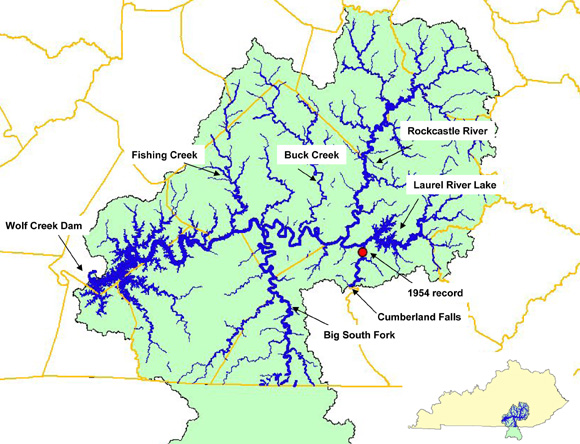 KY Lake Sturgeon Project Area Map photo