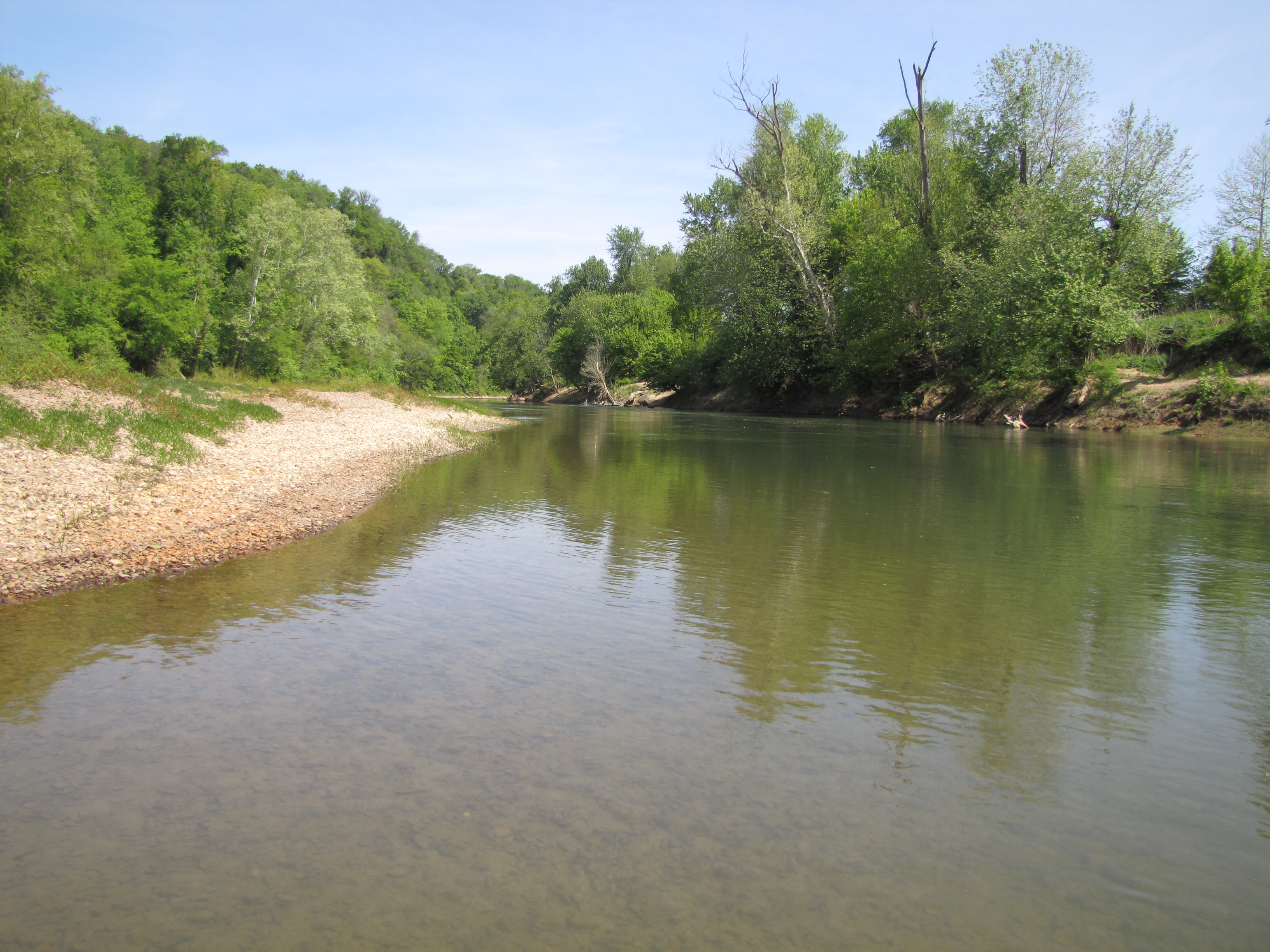 Green River, near Munfordville, KY, offers anglers and boaters a variety of deep pools, shallow riffles, cold springs and spectacular views not to mention an excellent fisheries.
