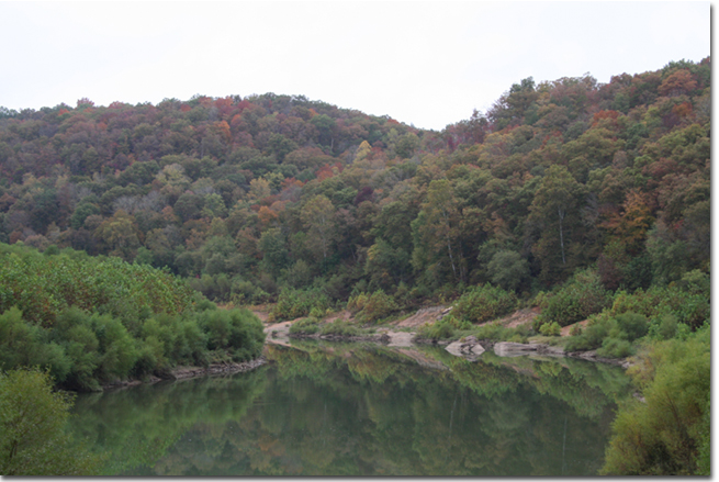 Cumberland River at mouth of Laurel River, Whitley County, KY