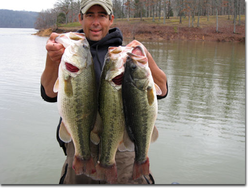 man holding up catch