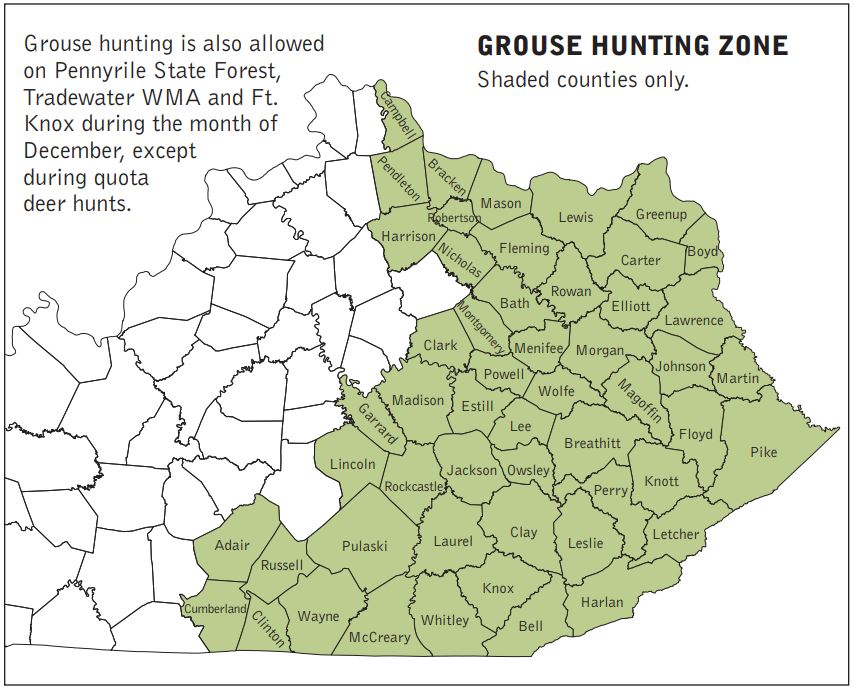 Grouse Zones Map