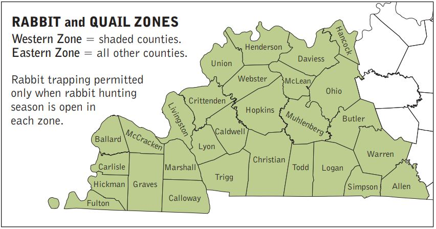 Rabbit and Quail Zones Map