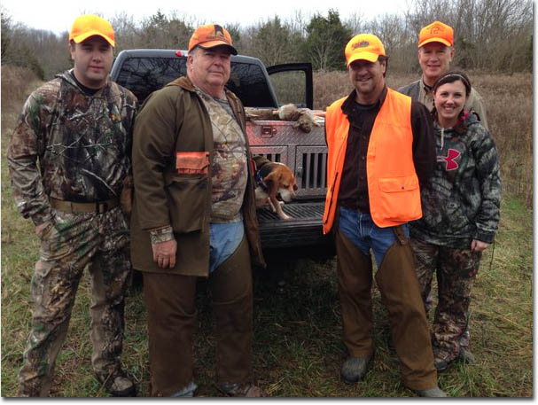 Commissioner Johnson with Tim Farmer on a rabbit hunt