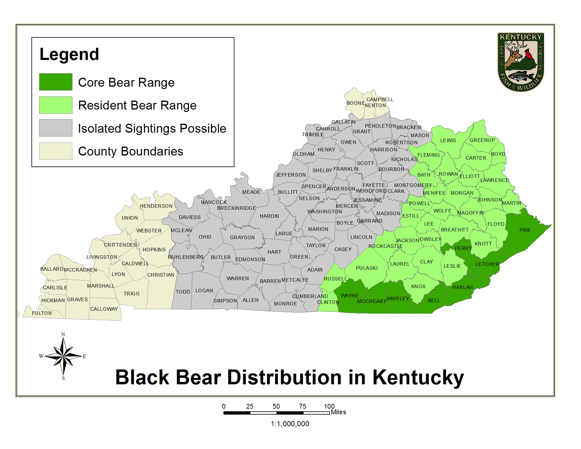 Kentucky Department of Fish & Wildlife Black Bears on ky senate district map, ky city map, ky geography map, kentucky map, ky law enforcement map, ky road map, ky regional map, ky counties by zip, ky states map, ky cities map, ky towns map, ky climate map, ky mountains map, ky co map, ky weather map, ky lake map, ky tn map, ky rivers map, ky regions map, ky tourism map,